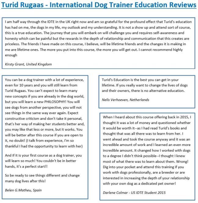 Turid Rugaas-Reviews